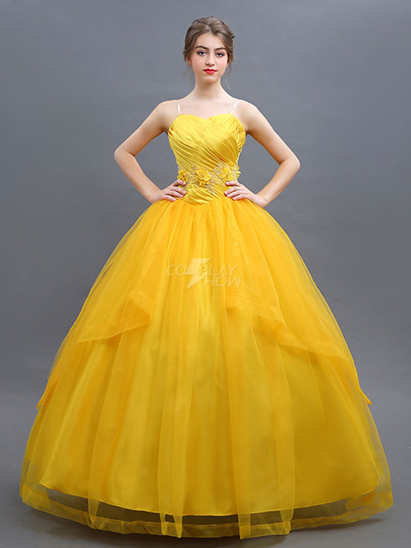 Beauty And The Beast Costume 2018 Belle Cosplay Yellow Dress