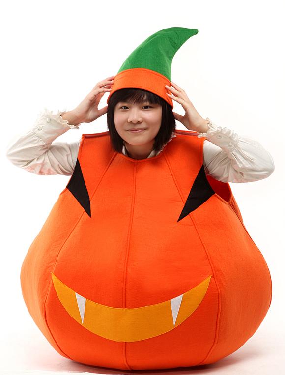 Halloween orange pumpkin costumes by - Trajes de calabaza ...