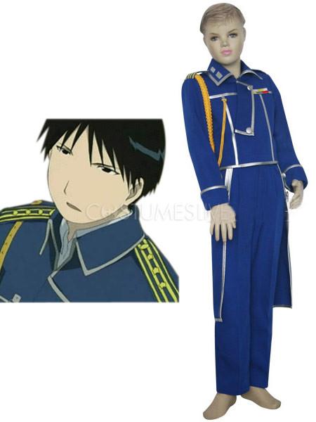 Blue-silver-gray-uniform-cloth-fullmetal-alchemist-roy-mustang