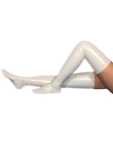 Хэллоуин ПВХ молочно-белые длинные чулки