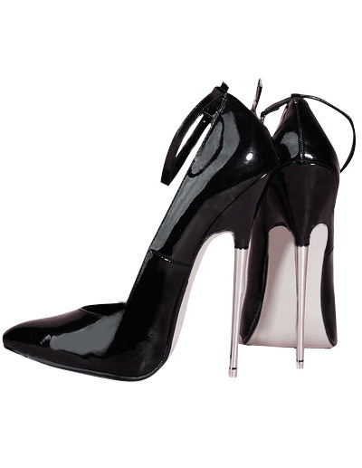 High Heel Black Pump Shoes фото