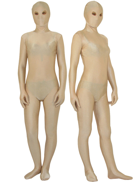 Halloween Flesh Color Zentai Suit With Opened Eyes Unisex Lycra Spandex Bodysuit Morphsuits фото