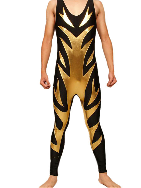 Halloween Shiny Metallic Wrestling Singlet Milanoo