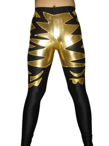 Halloween Shiny Metallic Wrestling Pants фото