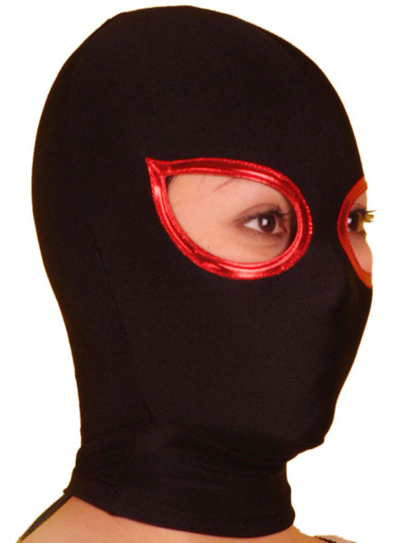 Halloween Black Open Eye Lycra Spandex Hood Milanoo
