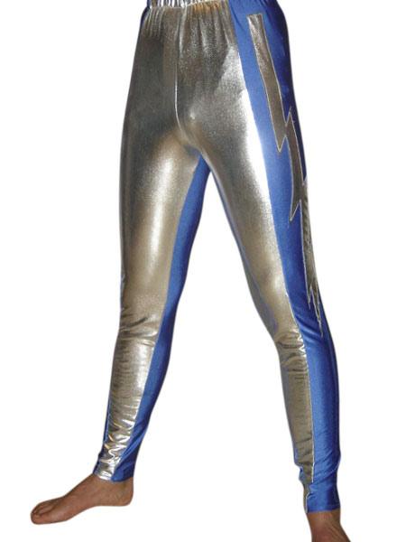 Halloween Shiny Metallic Pants Wrestling Pants фото