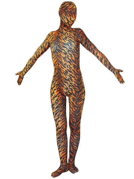 Halloween Tiger Zentai Suit Animals Lycra Spandex Unisex Full Bodsuit фото