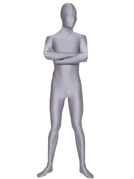 Хэллоуин Серебряный Серый Зентаи Костюм Лайкра Спандекс Унисекс Однотонный Боди Morphsuits