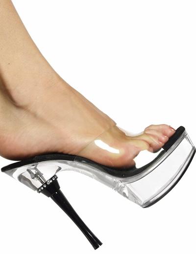 Milanoo / Zapatillas con plataforma transparente de tacón de alto de estilo sexy