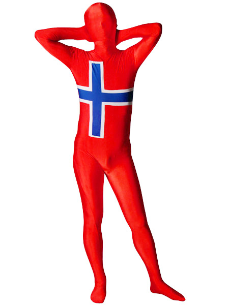 Halloween Flag of Norway Full Body Spandex Suit Zentai Suit фото