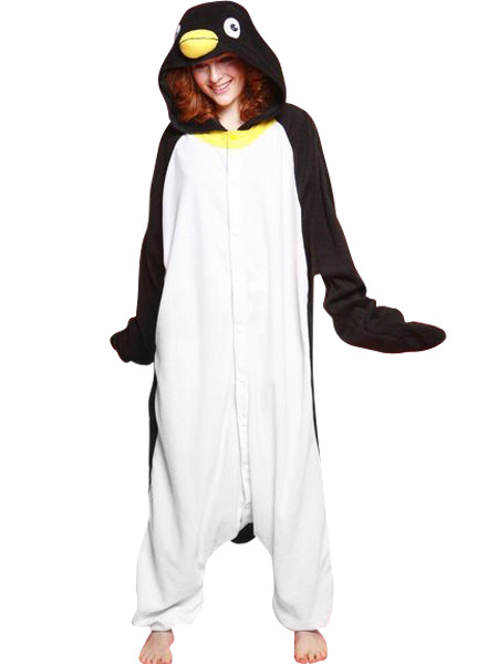 Kigurumi Pajamas Penguin Onesie For Adult Cotton Animal Costume фото