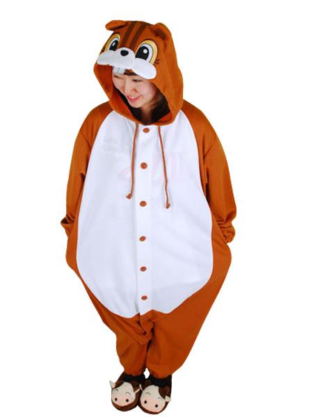Kigurumi Pajamas Squirrel Onesie For Adult Animal Costume фото