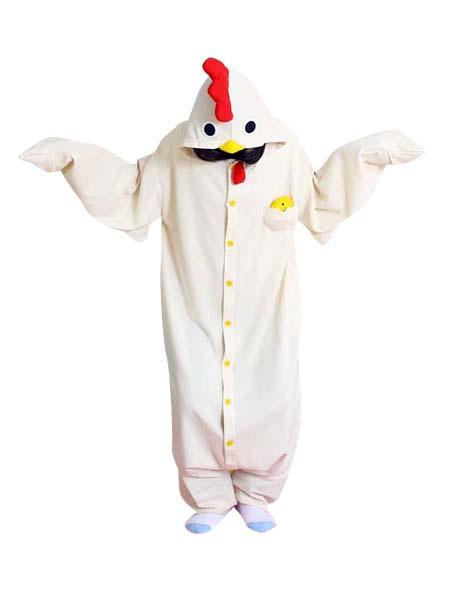Kigurumi Пижамы Ползунки Цыпленок Курицы Для Костюма Белого Взрослого Животного