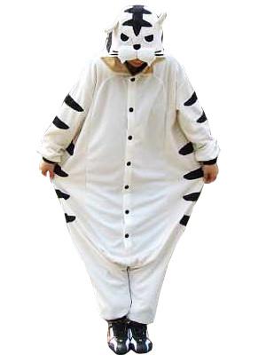 Тигр Kigurumi Пижамы Onesie Для Белый Костюм Взрослого Животного