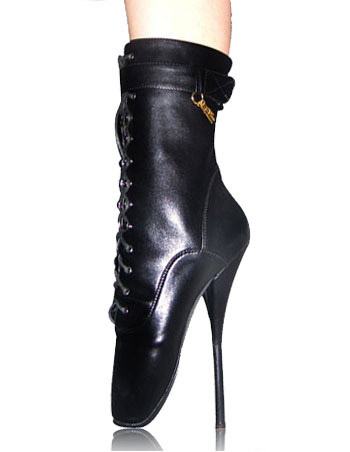 High Heel Black Ankle High Sexy Ballet Boots фото