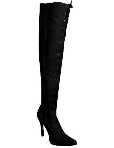 Black Zip Closure Pointed Toe Stiletto Heel PU Womens Sexy Boots фото