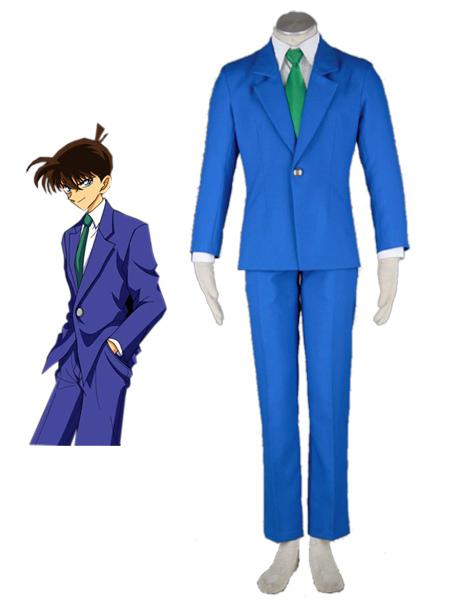 Detective Conan Case Closed Jimmy Kudo Kudou Shinichi Halloween Cosplay Costume School Uniform Milanoo