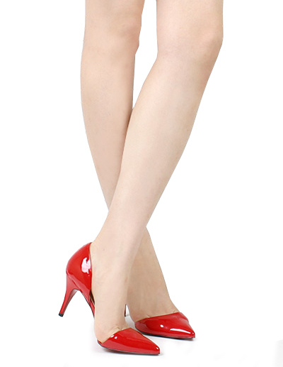 Leather Pointed Toe High Heel Women's Shoes