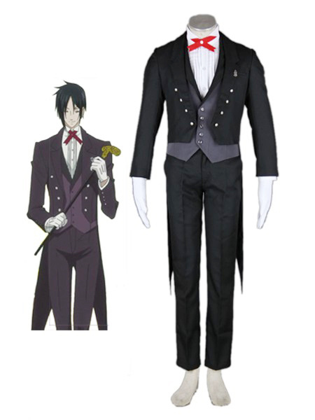 Black Butler Roame Sebastian Cosplay Costume Milanoo