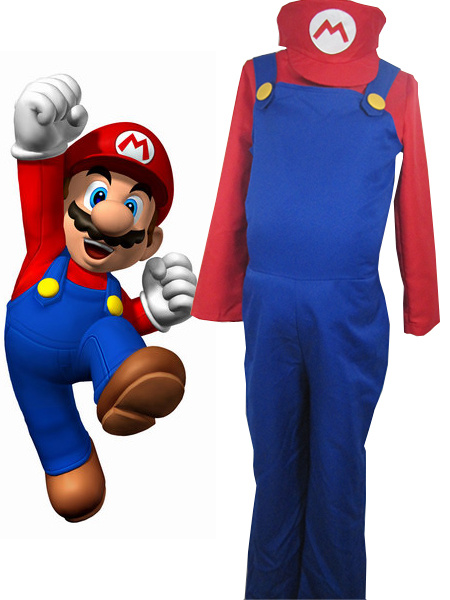 Super Mario Bros Mario Cosplay Costume фото