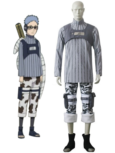 Naruto Chojuro Synthetic Fiber Knitted Fabric Cosplay Costume фото