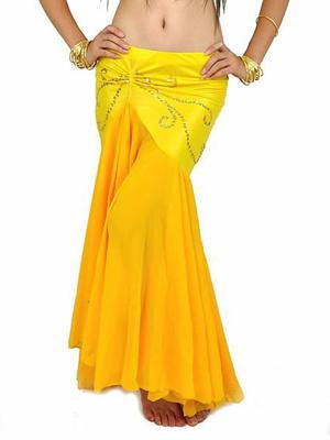 Halloween Yellow Chiffon Belly Dance Costume фото