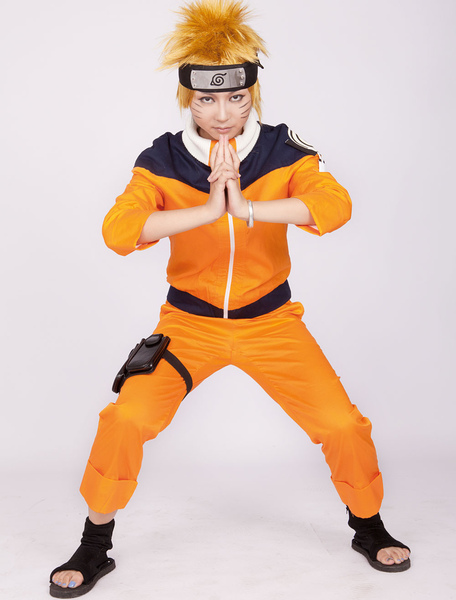 Naruto Uzumaki Anime Halloween Cosplay Costume