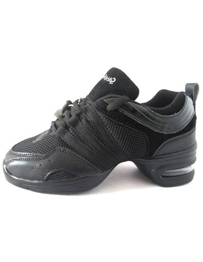 Black PU Mesh Women's Jazz Shoes