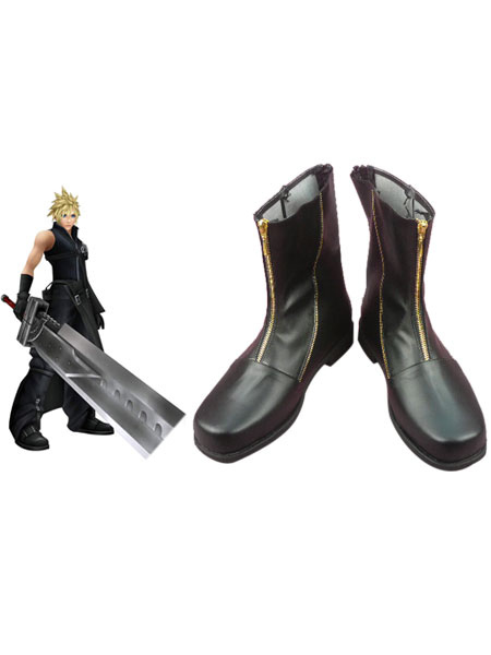 Special Final Fantasy VII Cloud Strife Cosplay Boots фото