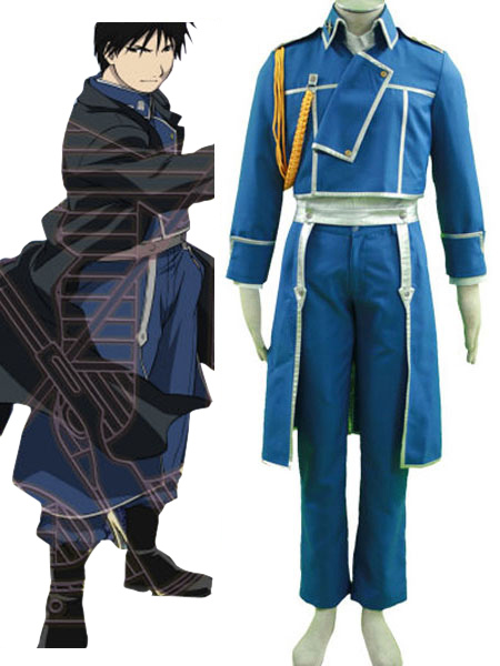 Fullmetal Alchemist Roy Mustang Military Halloween Cosplay Costume