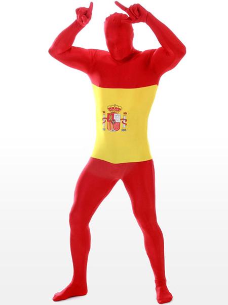 Spanish Flag Pattern Lycra Suit фото