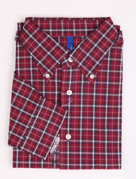 Casual Purple Check 100% Cotton Mens Shirt