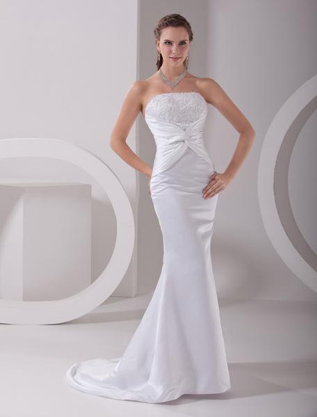 Сексуальная русалка свадебное платье с бисером