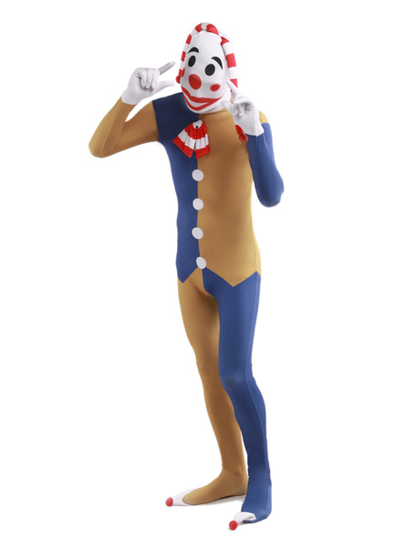 Lycra Spandex Unisex Clown Costume Zentai Suit фото