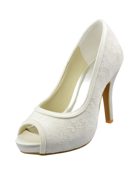 Ivory Lace Pumps