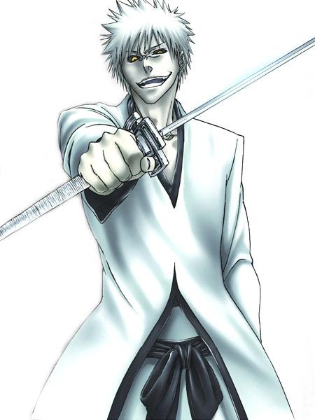 Bleach Kurosaki Ichigo Halloween Cosplay Costume White Suit
