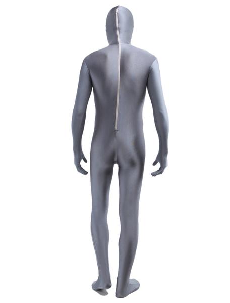 8e21bb8aa8 Classic Grey Zentai Suit Halloween Lycra Spandex Full Bodysuit Morphsuits.  sku  33860