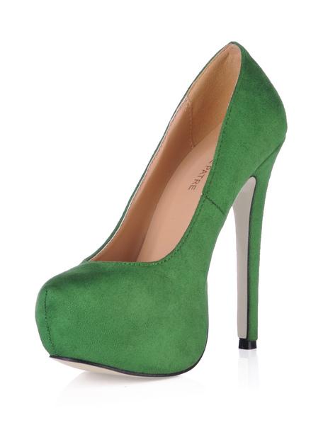 Fabulous Platform Stiletto Heel Womens Flannel Pumps