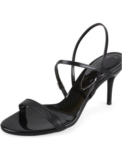 Bild von Fashion Sandaletten aus PU in Schwarz