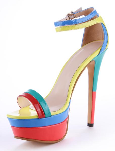 Open Toe Stiletto Heel Gladiator Sandals Milanoo