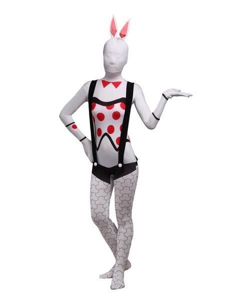 Halloween Bunny Girl Unisex Lycra Spandex Cool Multicolor Zentai Suits фото