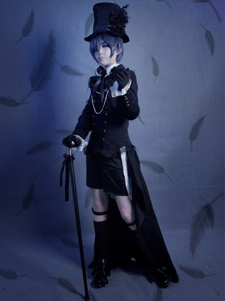 60f865340 Black Butler Kuroshitsuji Ciel Halloween Cosplay Costume - milanoo ...