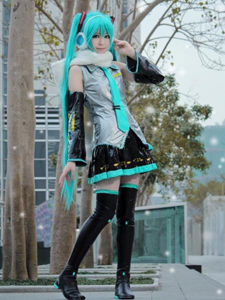 Vocaloid Hatsune Miku Anime Halloween Cosplay Costume фото