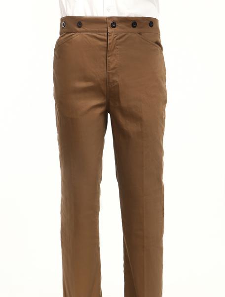 Men's Vintage Costume Victorian Brown Retro Trousers фото