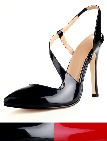 Pointed Toe Patent Suede High Heels фото
