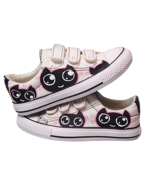 Painted Velcro Low Shoes фото