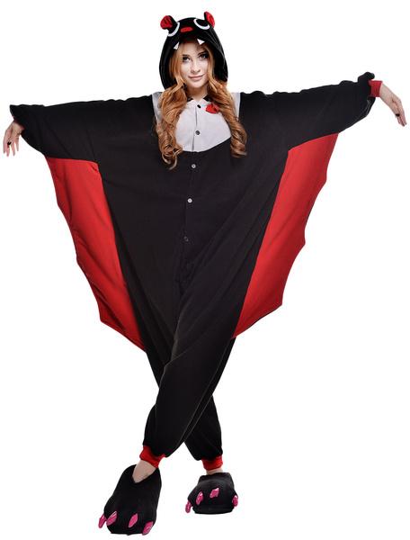 Kigurumi Pajama Bat Onesie For Adult Animal Costume фото
