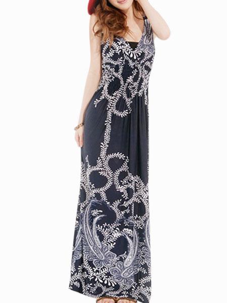 Sleeveless Boho Maxi Dress фото