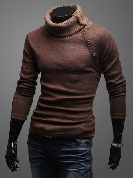 Формировать Пуловер Свитер С Высоким Воротом