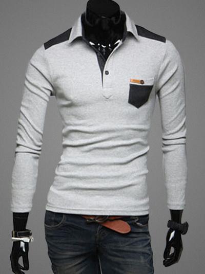 Рубашка Поло С Распространением Шеи